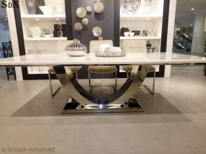 hot item dining room furniture marble top dining table set modern dining furniture