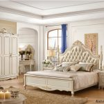 hot item luxury white bedroom furniture king beds for villa