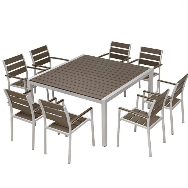 hotel patio dining room chairs table set modern scenic decor