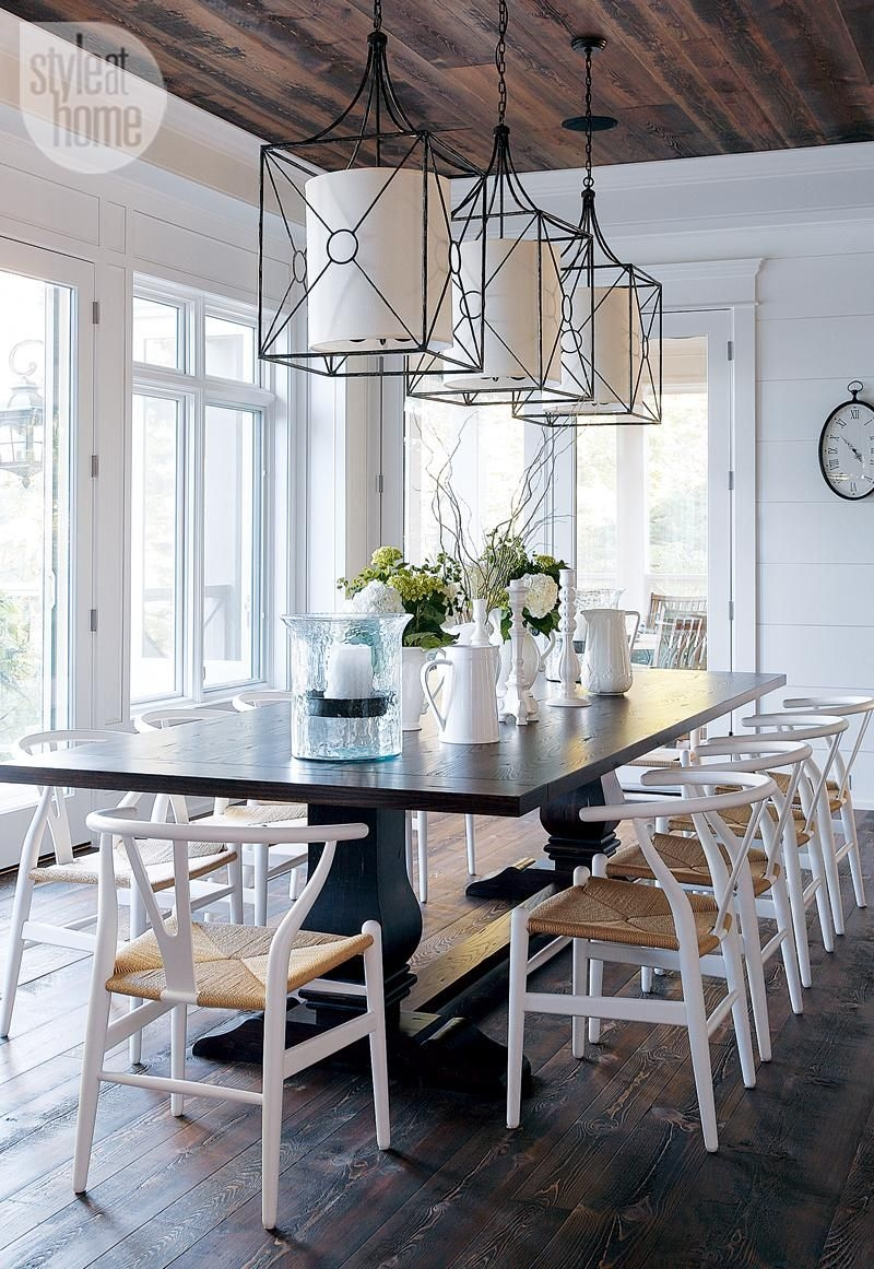house tour modern nautical style cottage dining rooms pinterest