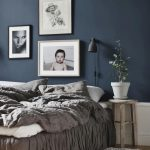 how pretty a really dark color looks in a bedroom this