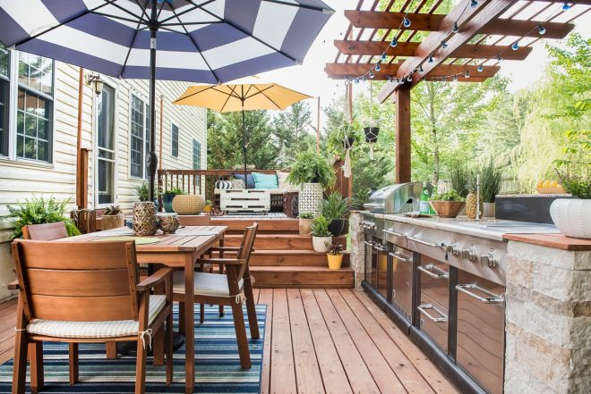 how to build an outdoor kitchen on a deck mycoffeepot