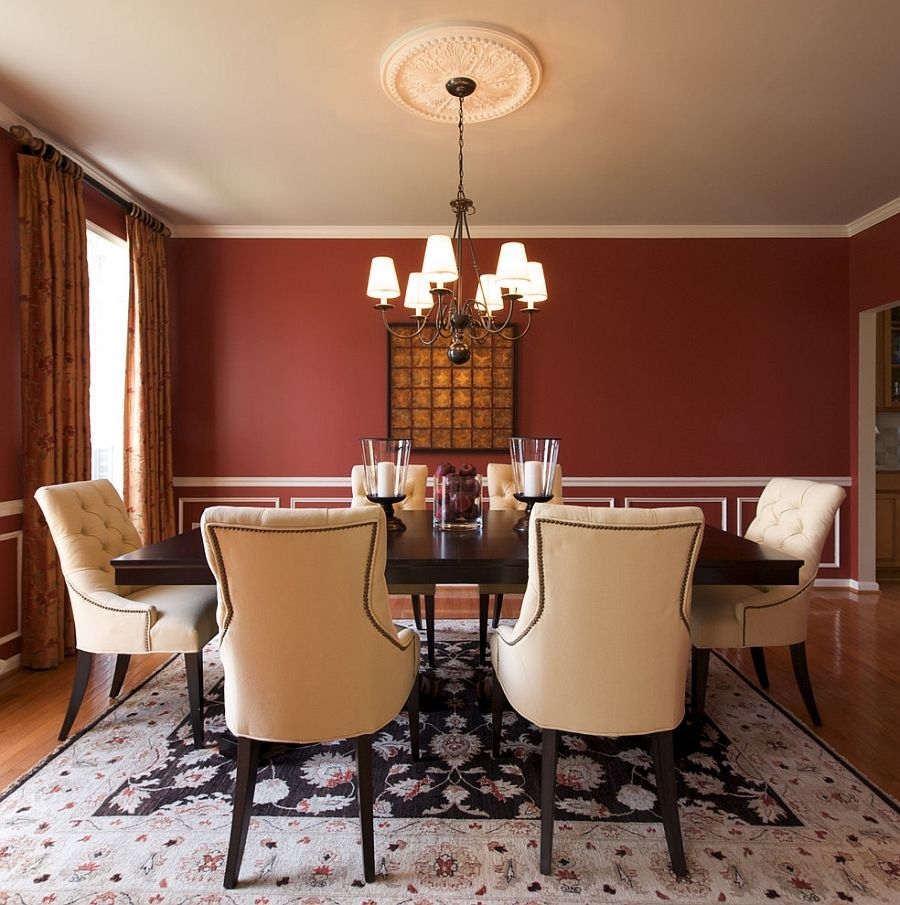 how to create a sensational dining room with red panache walls