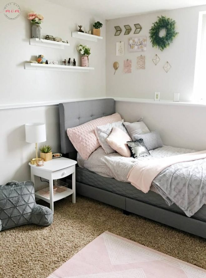 how to diy a blush and gray girls bedroom makeover must have mom