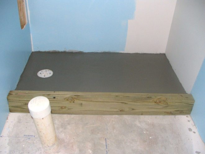 how to finish a basement bathroom build the tile shower pan i