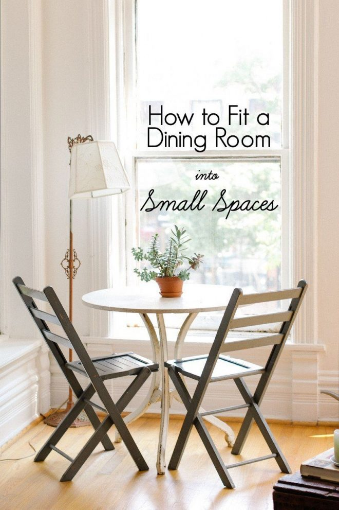 how to fit a dining room into small spaces home decor small