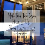 how to hang string lights on covered patio diy sengerson
