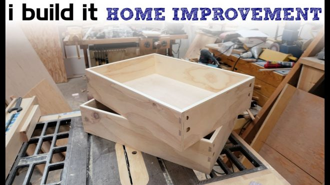 how to make drawers the easy way kitchen cabinet build youtube