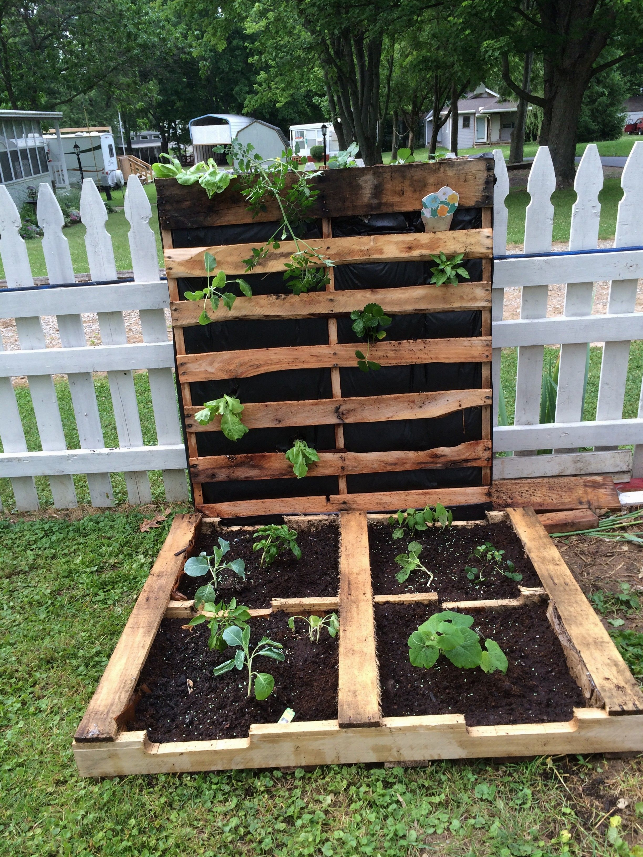 how to make your first pallet garden recycled pallets