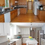 how to paint old oak kitchen cabinets