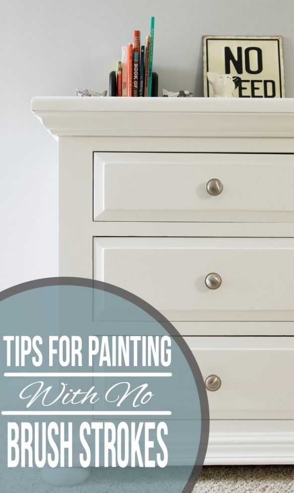 how to paint without brush marks or strokes
