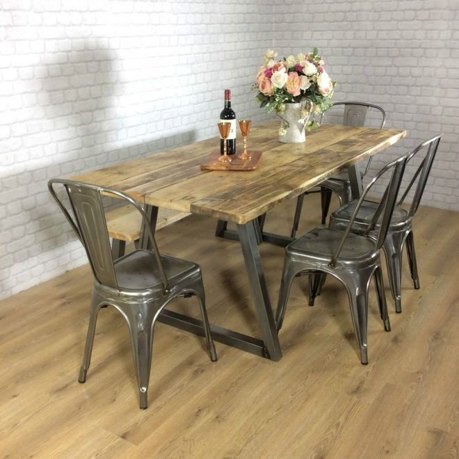 how to pull off industrial style conversion dining table