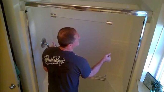 how to remove clean glass shower doors youtube