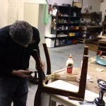 how to repair a broken dining room chair leg youtube