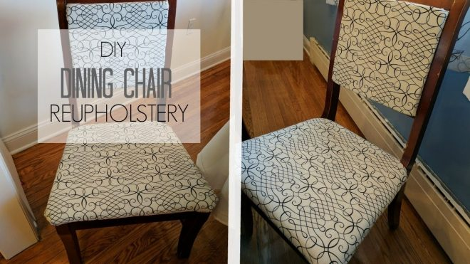 how to reupholster a chair and back diy tutorial hip n creative