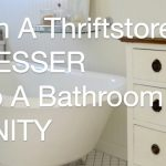 how to turn a thrift store dresser into a bathroom vanity anoregoncottage