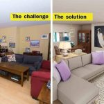 how to update a dated living dining room on a tight budget