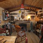 hunting cabin man cave room i built in my basement