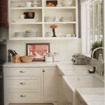 hutch look with open shelving inspired kitchen easy