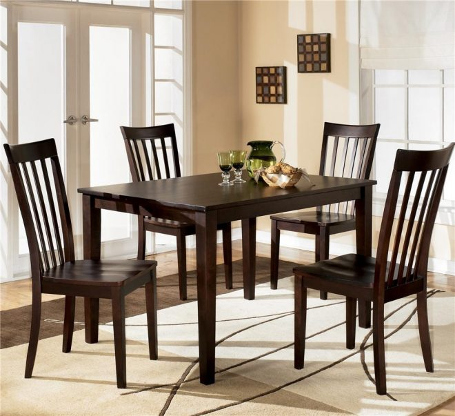 hyland rectangular dining table with 4 chairs