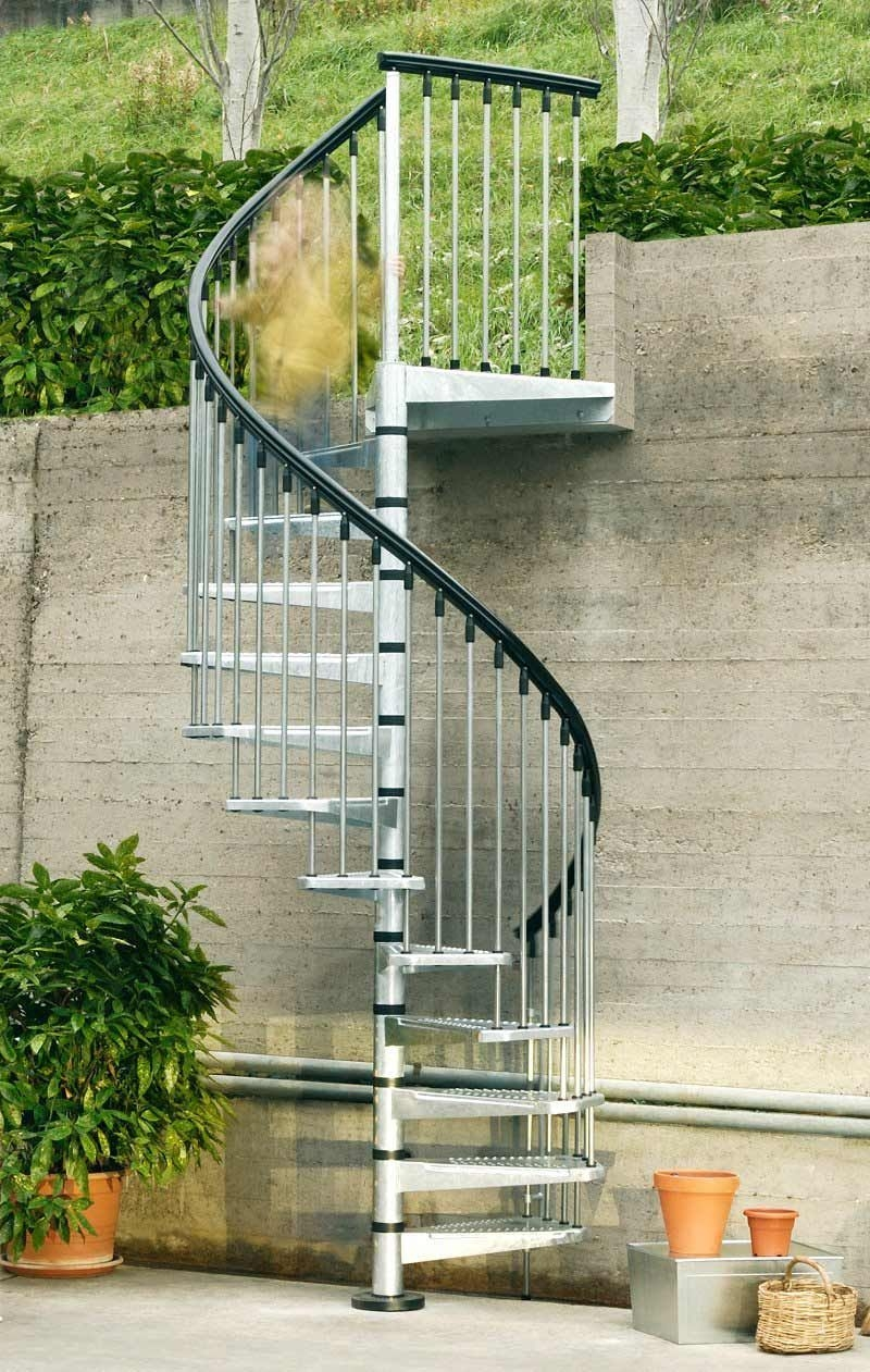 i like this spiral for outside entrance to guest apartment