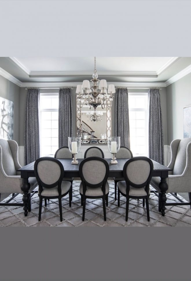 i love to see wingback chairs around the dining room table