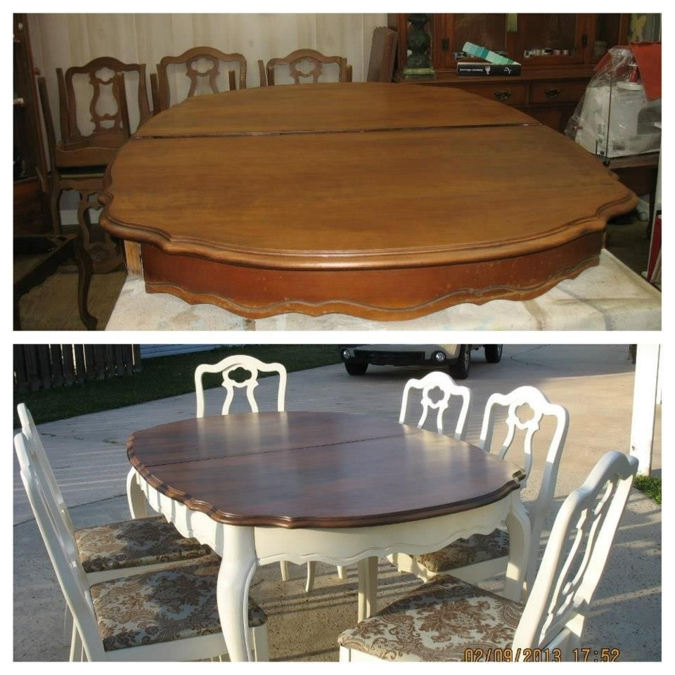 i want to refinish my dining room table to look like this dining