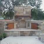 ideas for outdoor stone patio fireplace design randolph
