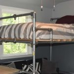 image result for diy loft bed around the home pipe bed