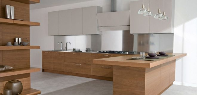 image result for kitchen natural wood cabinets and wood