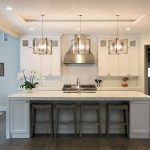 image result for waterfall island in traditional kitchen