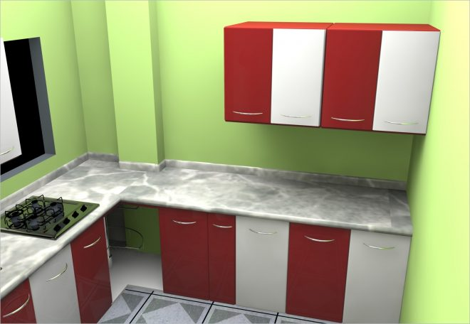 indian kitchen design for small space l shaped cabinets in