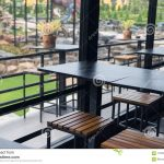 indoor and outdoor restaurant table stock image image of outdoor