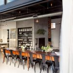 indoor outdoor dining the kitchen industrial style kitchen