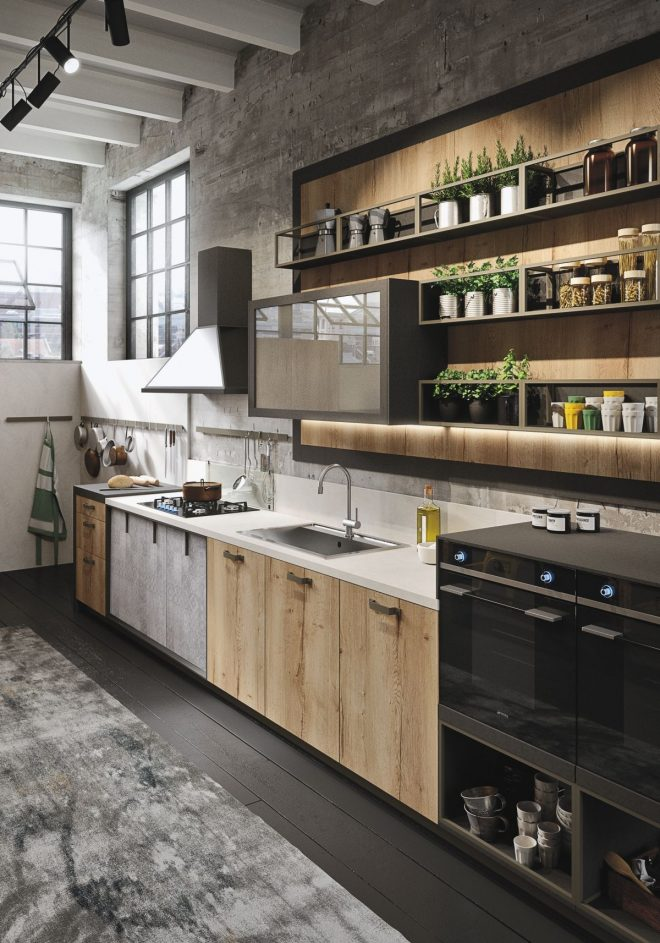 industrial and rustic designs resurfaced the new loft