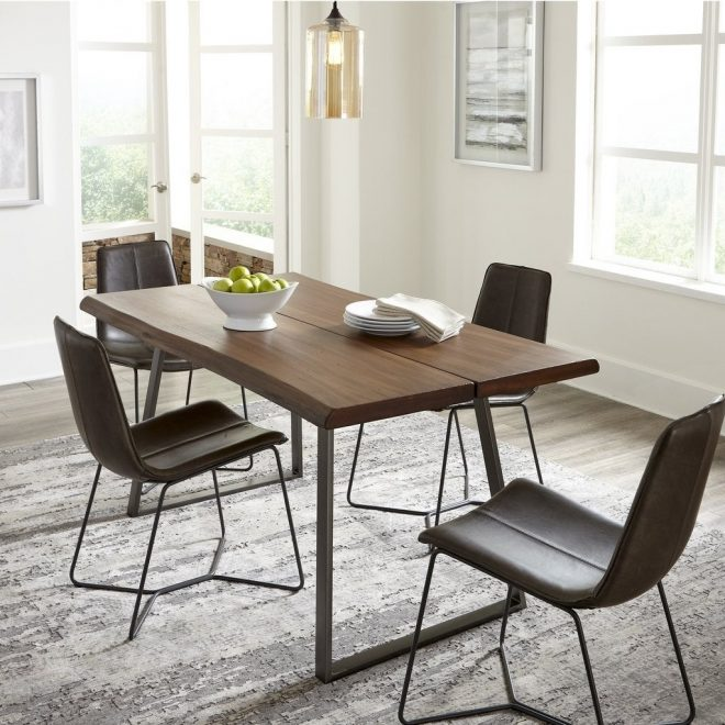 industrial dining room table and chairs inspire grain wood