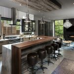 industrial kitchen ideas cabinets shelving chairs and lighting
