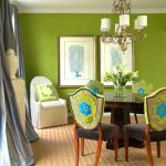 innovative and elegant green dining room design for your modern home