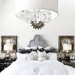 inspiration chandelier lighting bedroom home design decorating