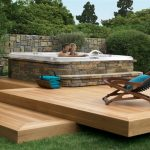 inspiring small backyard designs with hot tubs pictures