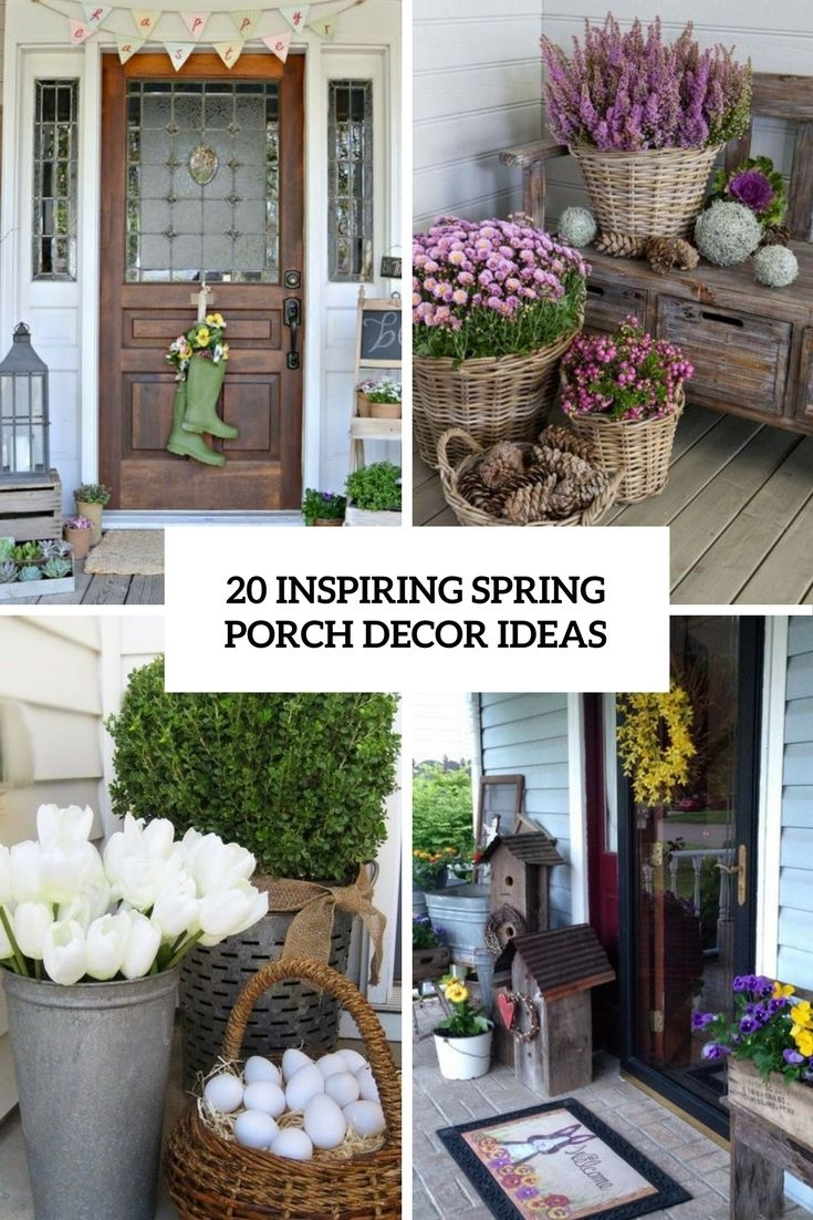 inspiring spring porch decor ideas cover outdoor patio pinterest