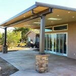 insulated aluminum patio cover with skylights led recessed