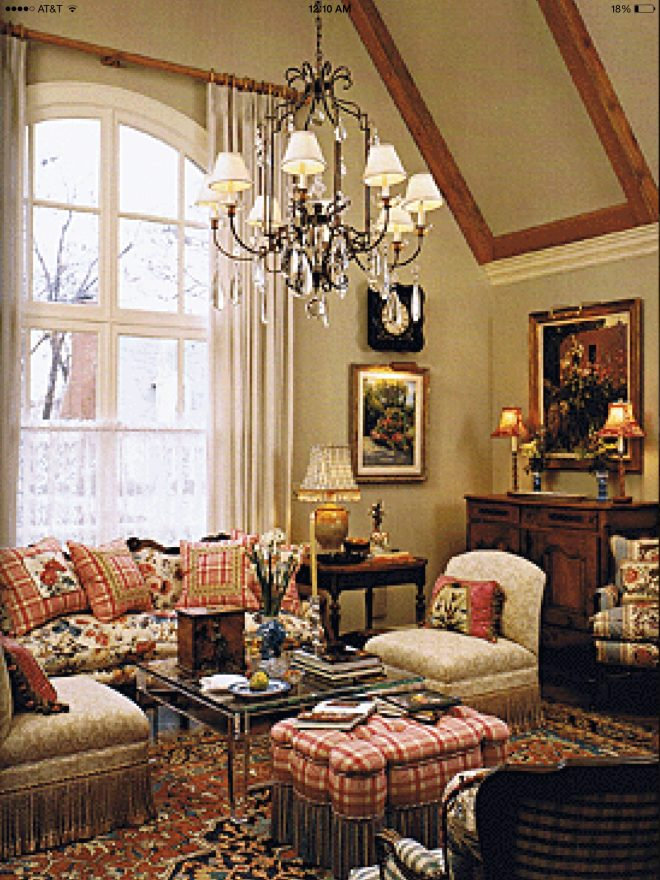 interior of french country home design and decorating