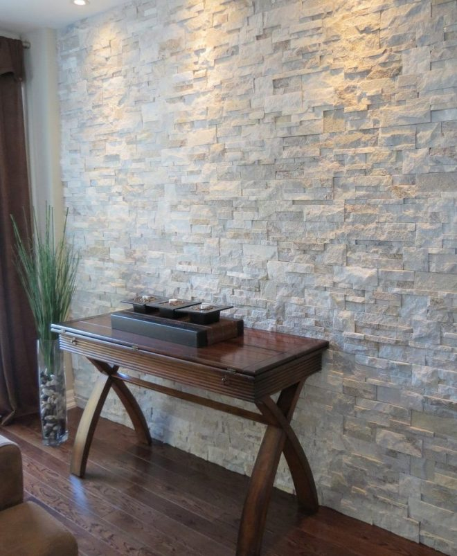 interior stone walls living room contemporary with stone