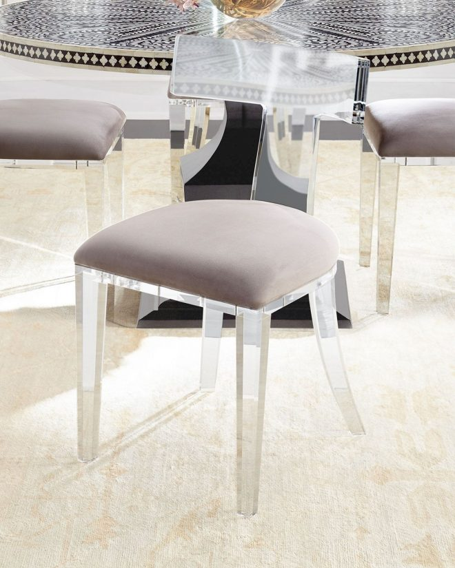 interlude home nessy acrylic dining chair acrylic dining
