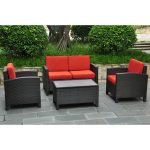 international caravan barcelona resin wicker outdoor patio set with storage table walmart