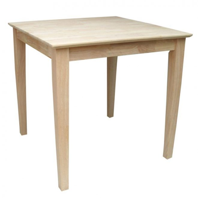 international concepts unfinished shaker dining table k 3030 30s