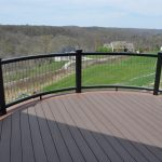 invisarail works great on curved deck railings deck railing