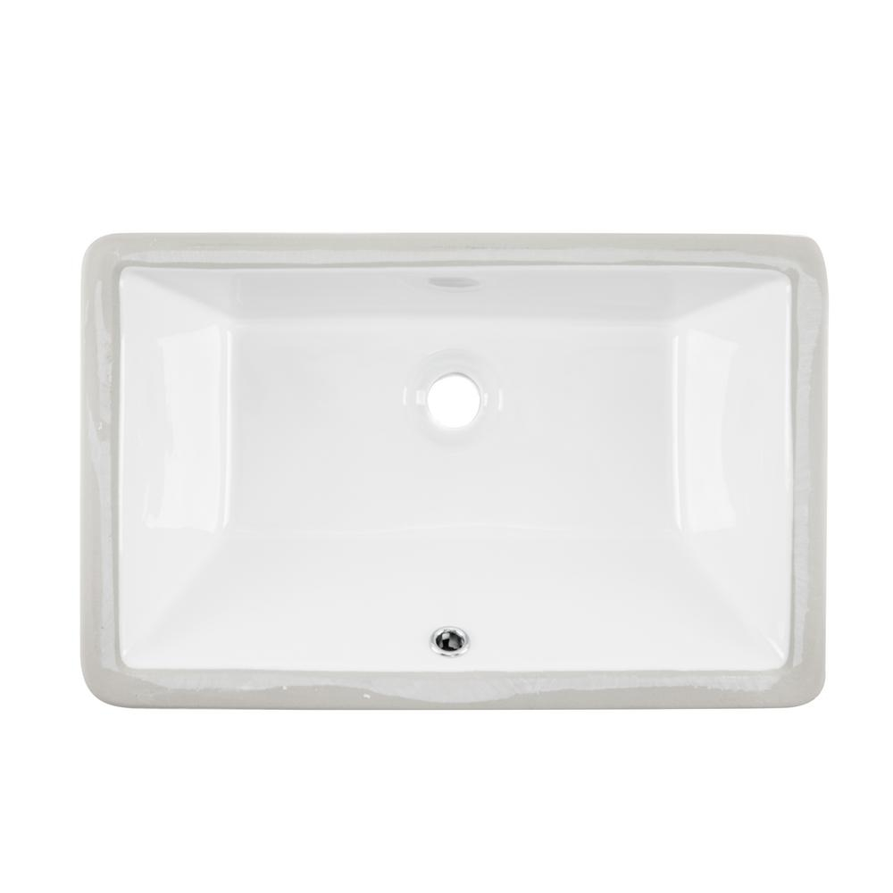 ipt sink company rectangular glazed ceramic undermount bathroom