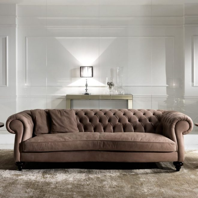 italian leather modern chesterfield sofa